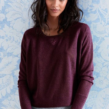 Lace-inset Sweater - Victoria's Secret