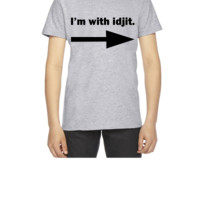 I'm with idjit - Supernatural - Bobby Singer - Youth T-shirt