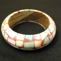 Designer Fashion Bracelet Bangle Wood Plastic Female Adult Multicolor -- Preowned