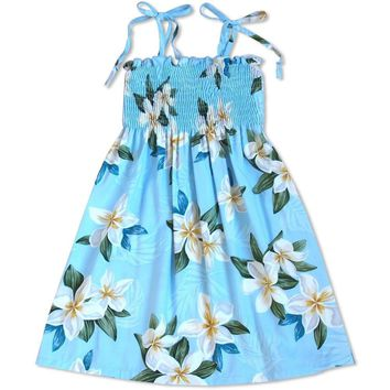 Escape Blue Sunkiss Hawaiian Girl Dress