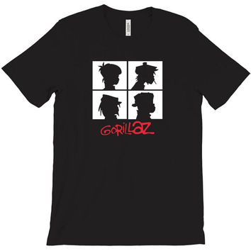 2015 new 100 quality gorillaz t shirt o neck popular chakakhan tshirt T-Shirt