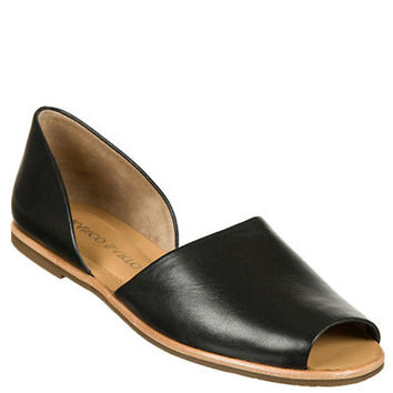 Franco Sarto Venezia Leather Open-Toe Flats