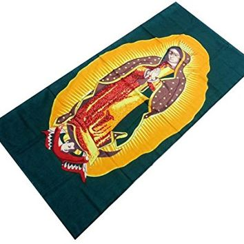 "Virgin Mary Reactive Beach Towel 30"" X 60"""