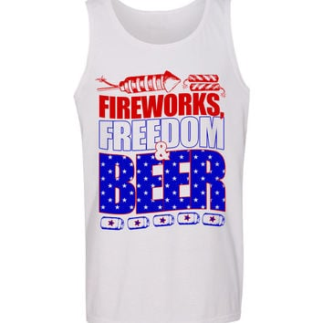 'Fireworks, Freedom & Beer' Tank Top