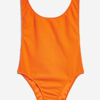 Crinkle Textured Swimsuit | Topshop