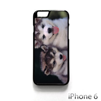 Siberian Husky Puppies Dog for Iphone 4/4S Iphone 5/5S/5C Iphone 6/6S/6S Plus/6 Plus Phone case