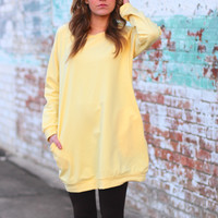 Cotton Candy Sweatshirt Tunic {Banana}