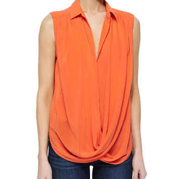 Kiersten Draped Wrap-Front Top,