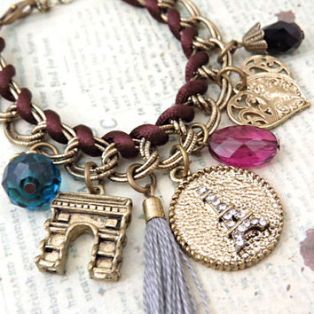 Paris Love Charm Bracelet