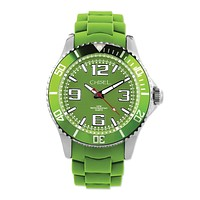 Chisel Mens 44mm Green Silicone Strap Watch