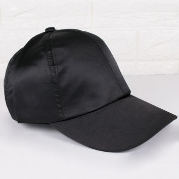 Satin Black Cap
