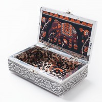 Elephant Motif Metal Box