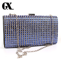 GX Woman Simple Evening Bag Women Pearl Rhinestone Clutches Crystal Clutch Wallet Wedding Purse Party Banquet