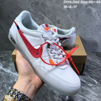 hcxx N1270 Off White Nike Air Wmns Killshot 2 Leather TXT Crystal transparent low skateborad shoes white red
