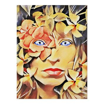 Mother Nature Goddess Abstract Original Fantasy Poster