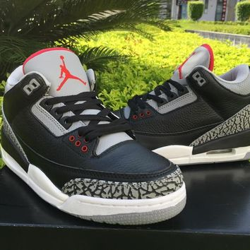 Nike Air Jordan III 3 Retro BLACK CEMENT 580775-010