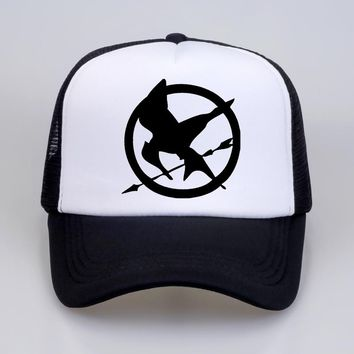 Fashion The Hunger Games Baseball Caps Popular Vintage Style Birds Brooches hat For Men Baseball Mesh Net Trucker Cap Dad Hat