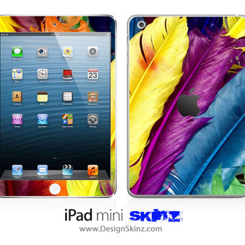 Colorful HD Feathers iPad Skin