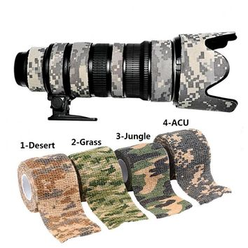 New 1 PCS 5cmx4.5m ACU Jungle Army Camo Outdoor Hunting Shooting Tool Camouflage Stealth Tape Cloths Waterproof Wrap Durable