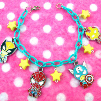 Marvel Avengers Comic Book Superhero Charm Bracelet
