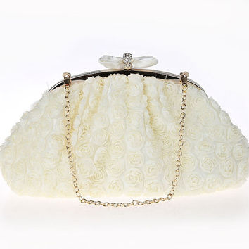 Ivory lace bridal clutch with pretty butterfly tie,wedding bag,Party Gifts Bridesmaids Purse,Party Bags,Wedding Bags,