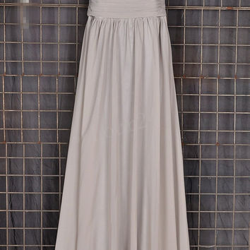 Simple Bridesmaid Dresses, Light Gray Long Prom Dress, Party Dresses,Evening Dresses,Wedding Party Dresses, Bridesmaid Dresses