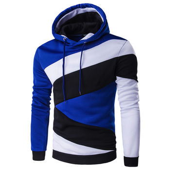 Hoodies Mens Male Hip Hop Male Brand Hoodie Color Stitching Sweatshirt  Suit Men Slim Fit Men Hoody XXL E5RV