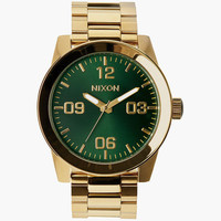 Nixon Corporal Ss Watch Gold/Green Sunray One Size For Men 25950554901