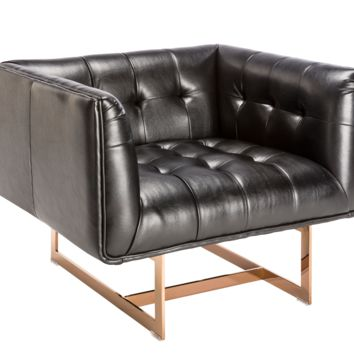 MANTA NOBILITY BLACK LEATHER ARMCHAIR