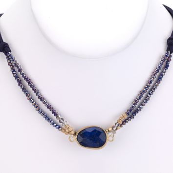Lapis Blue Stone Necklace