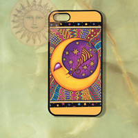 Moon- iPhone 5 , 5s, 5c,4s, 4 case,Ipod touch 5, Samsung GS3, GS4 case-Silicone Rubber / Hard Plastic Case, Phone cover