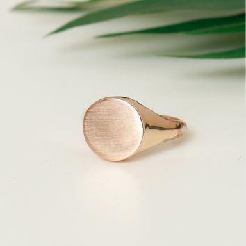Flat Circle Ring Rose Gold