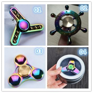 Fashion glittery Hand Spinner Anti Stress Rotation Toys-0529