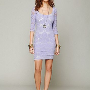 Intimately  3/4 Seamless Medallion Bodycon Dress at Free People Clothing Boutique