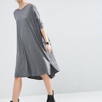 ASOS Oversize T-Shirt Dress with Curved Hem at asos.com