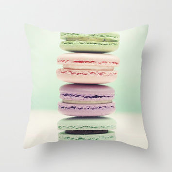 Macaron Tower Throw Pillow by Tiny Deer Studio | Society6