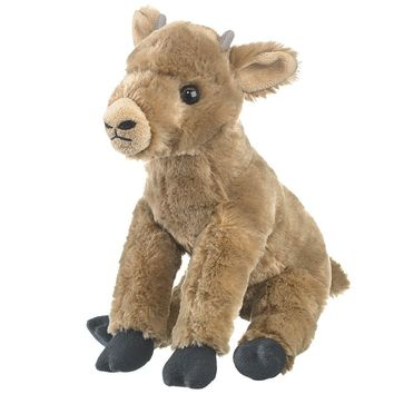 "9"" Baby Bighorn Sheep Stuffed Animals Floppy Zoo Newborn Animal Conservation Collection"