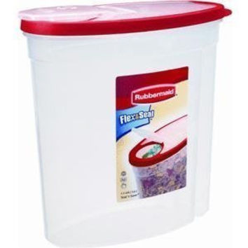 Rubbermaid Home Cereal Keeper Clear/ Red (1.5 Gal) Pack of Two
