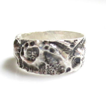 Fine Silver Ring, Lace Ring, Silver Lace Ring, Ring Band, Patterned Ring, Silver Ring Band, Fine Silver Jewelry, Handmade Ring, Boho Ring