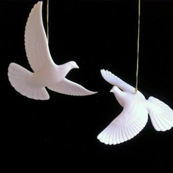 HOME ALONE 2 TURTLE DOVE ORNAMENTS - FRIENDSHIP DOVE COLLECTIBLE