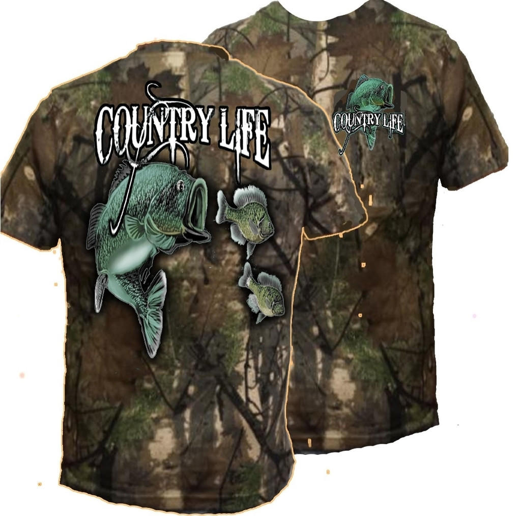 Country life outfitters camo realtree from simply cute tees for Camo fishing shirt