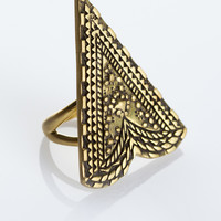 Labyrinth Amulet Ring - Brass | Spell & the Gypsy Collective