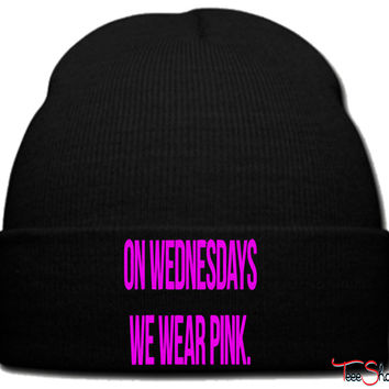 on wednesdays we wear pink_pink beanie knit hat