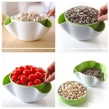Popular Fruit Candy Snack Nut Compote Holder Dish Tray Plate 2 In 1 Hot Selling