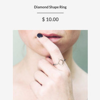 DIAMOND SHAPE RING