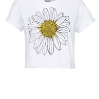 New Look Mobile | Teens White Daisy Crop Top