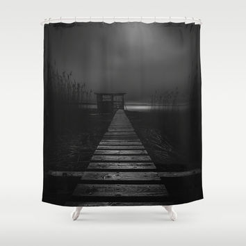 On the wrong side of the lake 4 Shower Curtain by HappyMelvin