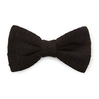FOREVER 21 Textured Knit Bow Barrette