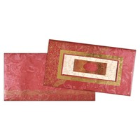 Delightfully Red and Gold Invitation Card-KNK1283