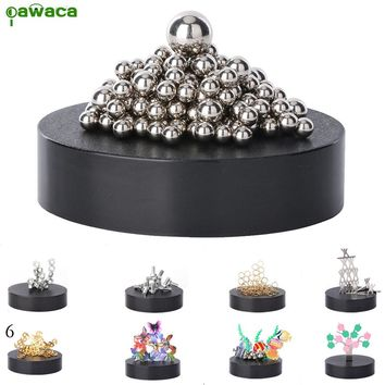 Magnetic Sculpture Desk Toy Diy Home Decoration Desk Art Sculpture Kids Educational Toys Metal Craft Sculpture Figurines Gift